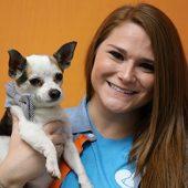 Alexandra Branham with Chihuahua