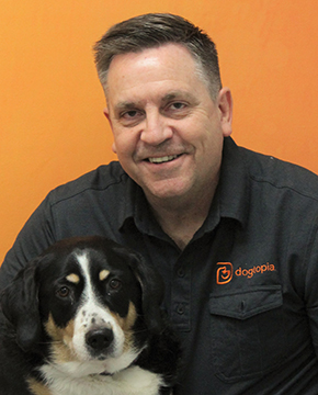 Bryan Anderson with Dog