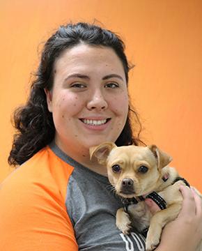 Ciara Archer with Dog