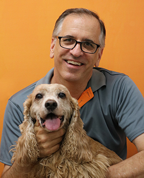 Jeff Farnell with Dog
