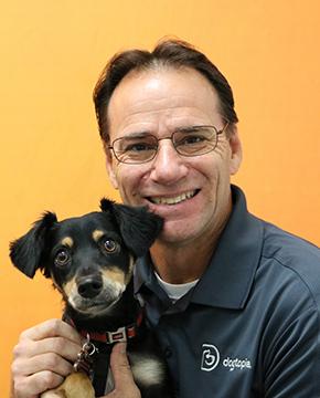 Jeff Smith with Dog
