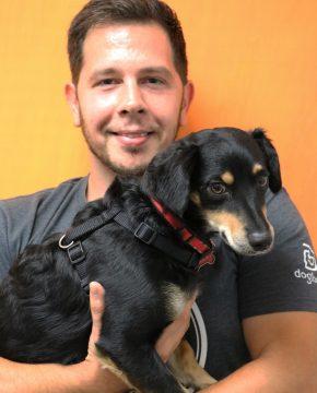 Jim McBrayer with Dog