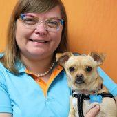 Julia Zolondz with Dog