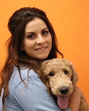 Kayla Larkham with Dog