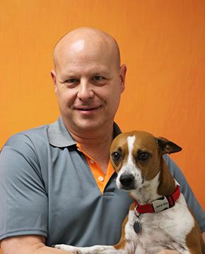 Michael Ellis with Dog