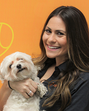 Nikayla Cragin with Puppy