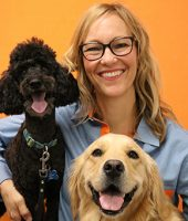 Doctor Joslin with Two Dogs