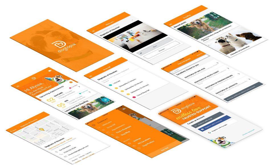 Dogtopia App design