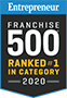 Franchise 500 Ranked #1 in category award logo