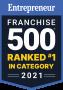 Franchise 500 Ranked #1 in category award logo