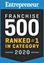 Entrepreneur Ranked #1 in Category 2020 Award Logo