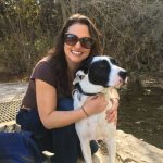 caroljne and her dog bandit