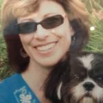 Cynthia and her dog Jax