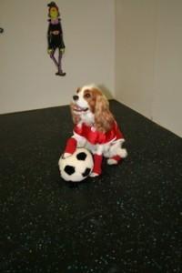 Abby as a soccer player.